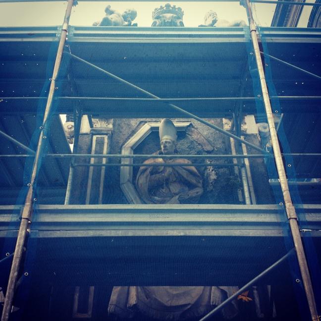 Edicola di San Gennaro in restauro